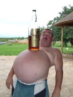 Beer belly or is it brandy belly...