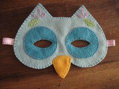 owl mask. masque hibou (feutrine) by Sosso82, via Flickr