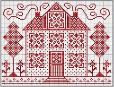 House cross-stitch - free