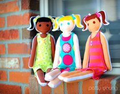 MODKID-rag-dolls-dressed2 by patty young / modkid, via Flickr