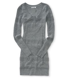 Knit Sweater Dress - Aeropostale I want this with some printed leggings and a matching infinity scarf!