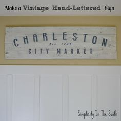 Tutorial on how to make a vintage hand lettered sign