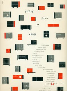 An ad for the Herman Miller Collection