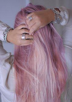 Pale pink dye.