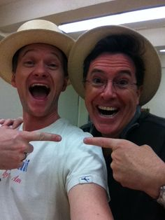 NPH and Stephen Colbert