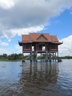 An amazing floating temple outside Siem Reap, #Cambodia! #Travel #Architecture