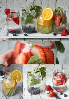 Fruits Infused Water Strawberry and Blueberry