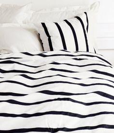 striped bedding.