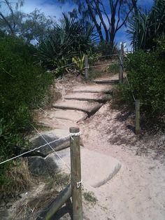 Walk up from the beach  #ByronBay, #Australia