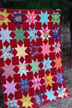 red, red Stars quilt