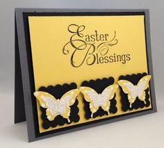 Stampin' Up! Easter Card - Elegant Butterfly punch, Easter Blessings single stamp