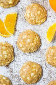 Orange Creamsicle White Chocolate Chip Softbatch Cookies - Super soft cookies that taste like Orange Creamsicles!