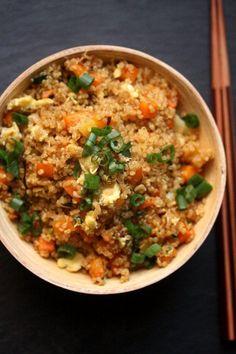 Quinoa Fried Rice Recipe | http://aol.it/1fXAmGO #Healthy