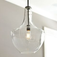 "Sawyer 1-Light Pendant | Ballard Designs LC756 19""H x 13.75""D rod:38"" 100watt max 249."