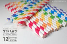 Hey, I found this really awesome Etsy listing at http://www.etsy.com/listing/109928339/rainbow-paper-stripey-straws-12pk