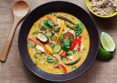Lemongrass and Coconut Curry with Summer Vegetables: Recipe: bonappetit.com