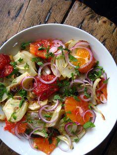 mints, roast fennel, warm fennel salad, mint salad, food, mint artsandcraft, oranges, yummi life, salads