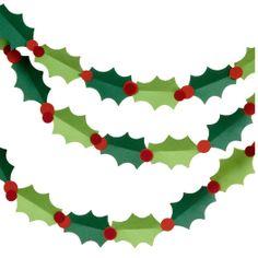 Holly Garland Kit paper garlands, christmas crafts, holli garland, paper sourc, garland kit, papers, christma garland, christmas garlands, holiday decor
