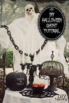 Create this Halloween ghost for a spooky entrance.