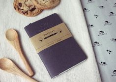 Greyish Pocket Notebook Handmade By Mossery. $5.00, via Etsy.