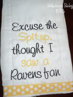Pittsburgh Steelers Excuse the Spit up Team cute in vikings/packers