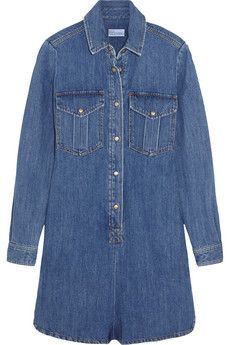 REDValentino Denim playsuit | NET-A-PORTER