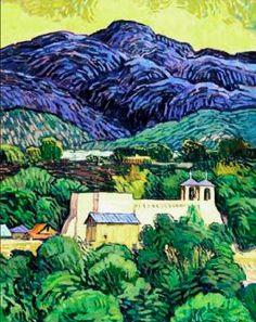 Robert Daughters (1929 - 2013) Ranchos de Taos