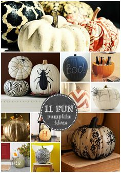 11 Fun and easy pumpkin decorating ideas for fall.