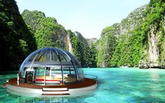 Like A Beaver Eh?!  The Pearl eco houseboat. (Photo: Orhan Cileli)