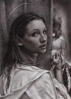 Barbara Kacicek (charcoal on paper)