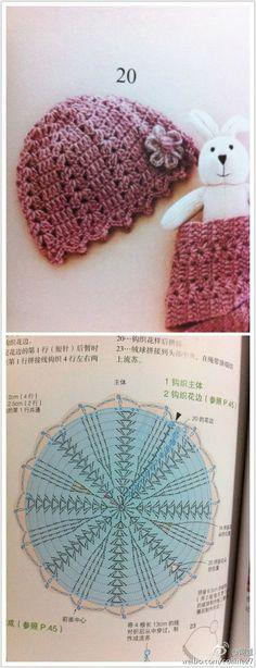 GORRO GALA handmade crochet crochet arte de Vivir