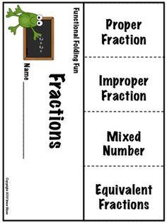 maths foldables, elementary math foldables, teach math, fraction, math lapbooks, word families, grammar lapbook, teach stuff, flap book