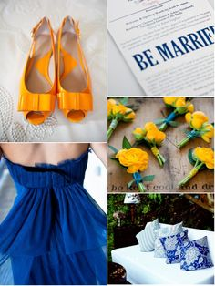 Royal Blue, Orange & Yellow- I love these shoes!