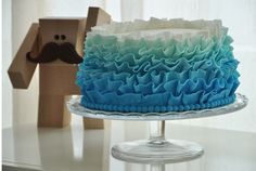 Ruffled Ombre Cake
