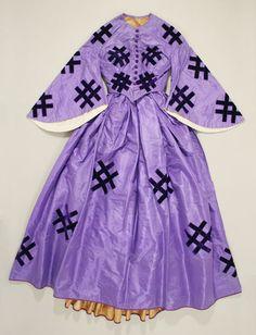 Silk Dress  ca. 1861