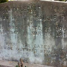 """""""Where the gates swing outward never"""" Ransom Cemetery. Jonesboro, Arkansas"""
