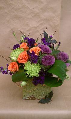 halloween arrangement  https://www.facebook.com/bloomiesflorist