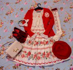 Classic Lolita Innocent World Marine Rose Coord