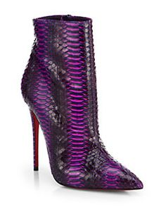 [christian louboutin] <3 So Kate Watersnake Ankle Boots