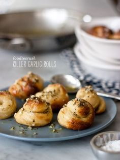This is my favorite way to use up leftover pizza dough: Killer Garlic Rolls, a C&O Trattoria copycat #recipe on foodiecrush.com