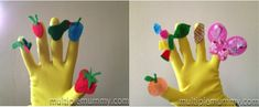 The hungry caterpillar glove puppet! what a good idea for any story.