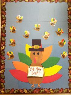 christmas ideas for prek bulletin board | Thanksgiving Bulletin Board | Preschool door decorating ideas
