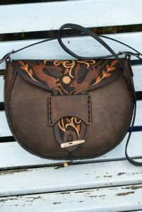 warm brown Wayland boho bag with chasing hares design