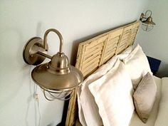 how to rewire a sconce to plug in.  Easy!