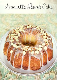 Amaretto Pound Cake - almond pound cake soaked in an Amaretto syrup