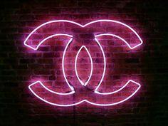 logo, coco chanel, fashion, neon signs, sunglass, pink, light, bedroom, cocochanel