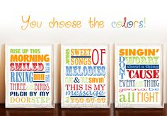 Bob Marley 3 Three Little Birds typography art by PeaPodPrintables, $12.00