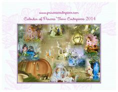 Princess Calendar, show the themed centerpiece samples.
