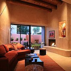Fireplaces country style on pinterest stone fireplaces for Southwestern fireplaces