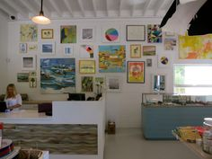 Gallery Wall: Serena and Lily Store in East Hampton